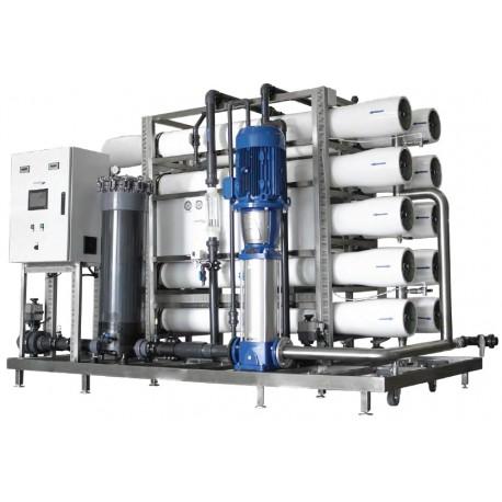 Osmoseur industriel 1 140 à 14 400 l/h pour eau à 6000 PPM