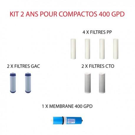 Kit d'entretien 400 GPD Hidrotek