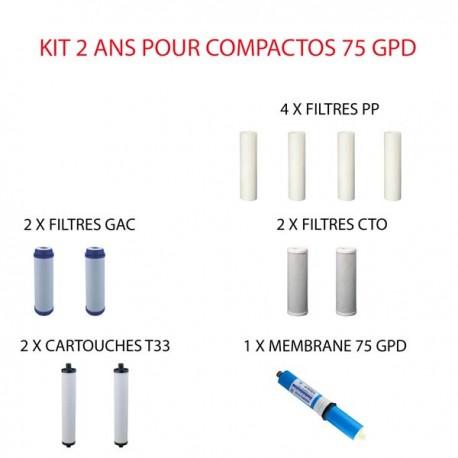 Kit d'entretien 75 GPD Hidrotek