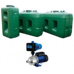 Réservoir haute capacité avec flotteur et pompe intégrée