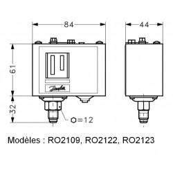 Pressostat Danfoss - commutateur basse pression industriel