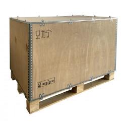 Supplément caisse en bois pour osmoseur industriel en transport aérien