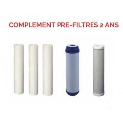 Complément pré-filtres 2 ans pour Osmoseur 75 à 300 GPD