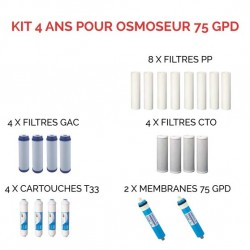 Kit d'entretien pour osmoseur 75 GPD