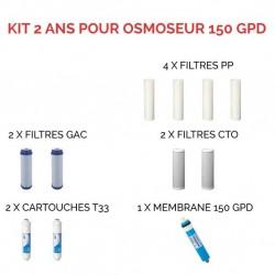 Kit d'entretien pour osmoseur à 150 GPD 2 ans