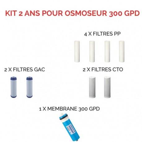 Kit d'entretien pour osmoseur à 300 GPD 2 ans DirectOs