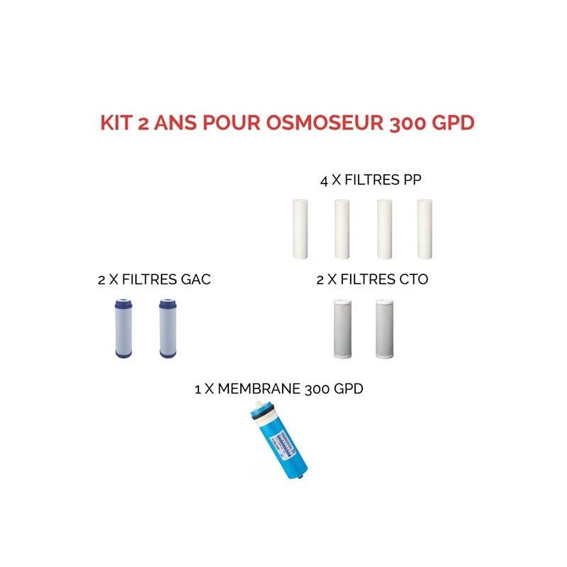 kit de consommables pour osmoseur domestique 300 gps directos. Black Bedroom Furniture Sets. Home Design Ideas