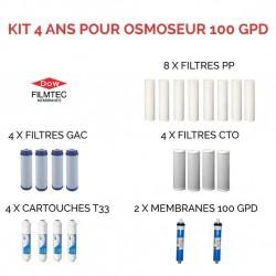 Kit d'entretien Filmtec pour osmoseur 100 GPD