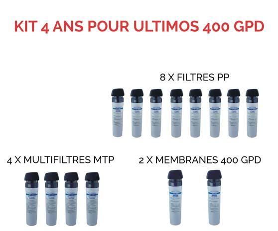 Kit d'entretien 400 GPD 4 ans