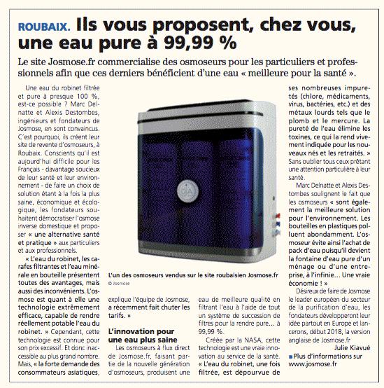 Article croix du nord sur josmose.fr