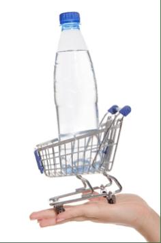 Acheter de l'eau en bouteille
