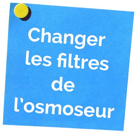 Changer les filtres de son osmoseur