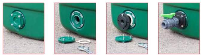 Comment raccorder la pompe sur le réservoir haute capacité avec flotteur et pompe intégrée?