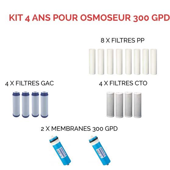 Kit 300 GPD 4 ans