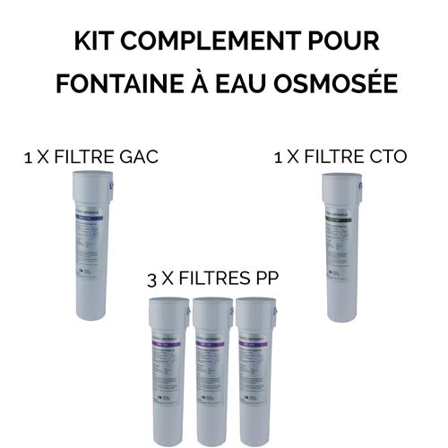 Kit de complément pour fontaine à eau osmosée