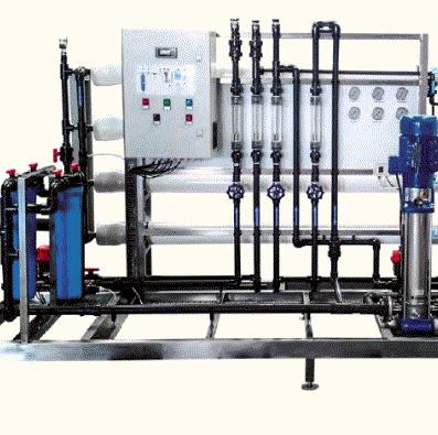 Vu en zoom de l'osmoseur industriel