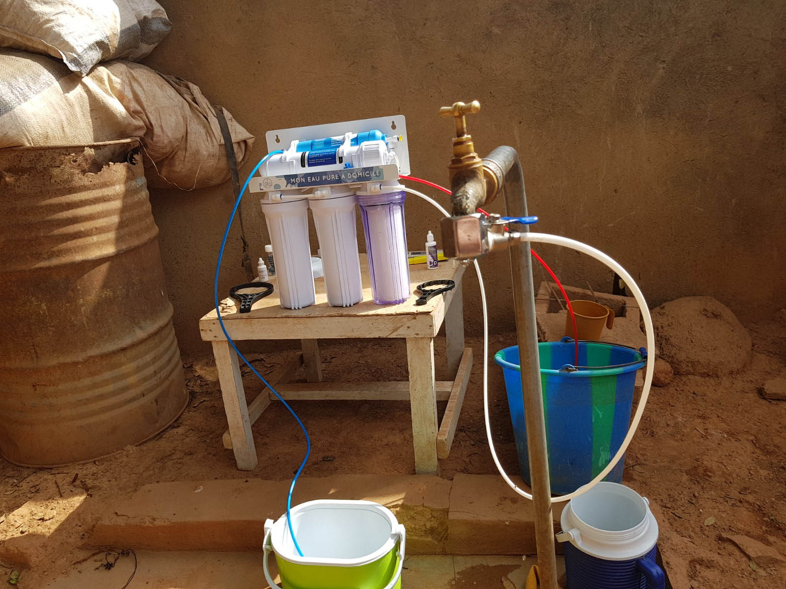 Osmoseur domestique au Burkina-Faso